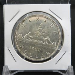 1962 Canadian Silver $1 Dollar Coin