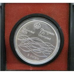 1976 Montreal Olympics Silver $5 Dollar Coin
