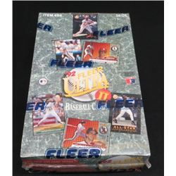 1992 Fleer Ultra Baseball Sealed Box 36 Packs