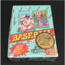 1991 Donruss Baseball sealed Box Of 36 Packs