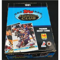 1991 Topps Stadium Stadium Club Hockey Box Of
