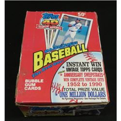 1990 Topps 40 Years Of Baseball Box Of 36 Sealed