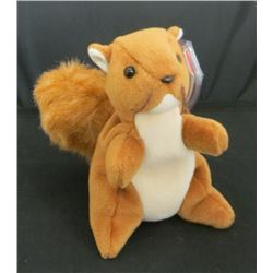 1996 TY Beanie Baby Nuts The Squirrel