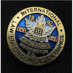 1992 International Law Enforcement Olympics Pin