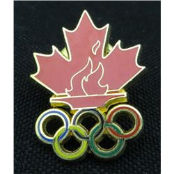 Maple Leaf & Torch Flames Olympic Collector Pin