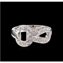 0.35 ctw Diamond Ring - 18KT White Gold