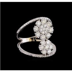 1.92 ctw Diamond Ring - 14KT White Gold