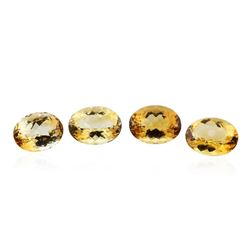 27.4 ctw Oval Cut Citrine Quartz Parcel