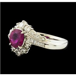 1.13 ctw Ruby and Diamond Ring - Platinum