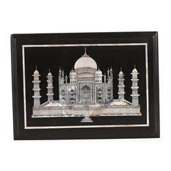 Black Marble Inlaid Mother of Pearl Taj Mahal Box
