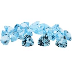 83.24 ctw Trillion Cut Natural Blue Topaz Parcel