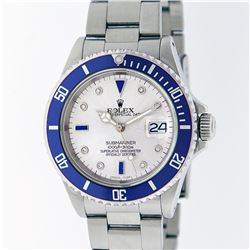 Rolex Stainless Steel Sapphire and Diamond Submariner Men's Watch