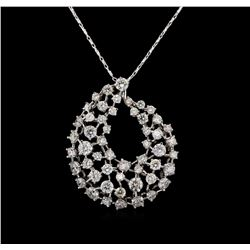 2.70 ctw Diamond Pendant - 14KT White Gold