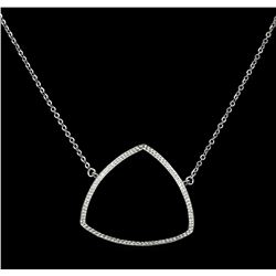CZ Triangle Pendant Necklace - 925 Silver