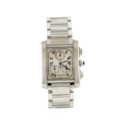 Cartier Stainless Steel Francaise Chronograph Quartz Men's Watch