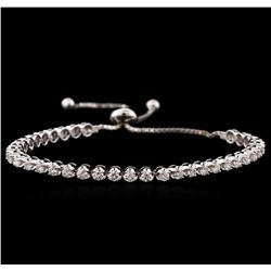 14KT White Gold 2.34 ctw Diamond Tennis Bracelet