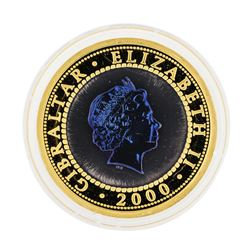 2000 Bi-Metal Gold and Titanium Tupenny Blue Crown 1oz Coin