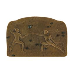 Circa 1900 Fencing L. Coudray Engraved Medal
