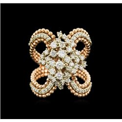 1.03 ctw Diamond Ring - 14KT Yellow and Rose Gold