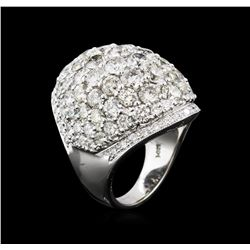 9.58 ctw Diamond Ring - 14KT White Gold