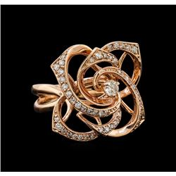 14KT Rose Gold 0.42 ctw Diamond Ring
