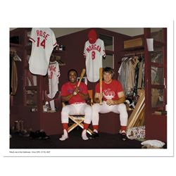 Pete Rose and Morgan in Clubhouse