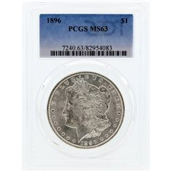 1896 PCGS MS63 Morgan Silver Dollar