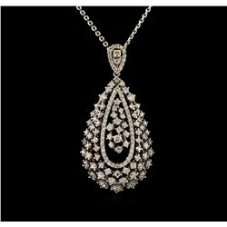 14KT White Gold 1.50 ctw Diamond Pendant With Chain