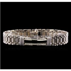 0.88 ctw Diamond Bracelet - 14KT White Gold