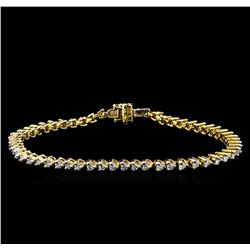1.82 ctw Diamond Tennis Bracelet - 14KT Yellow Gold