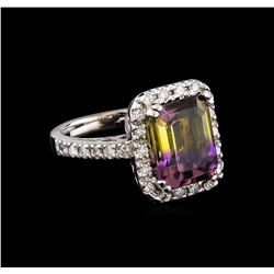5.00 ctw Ametrine and Diamond Ring - 14KT White Gold