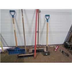 2 Brooms,Pry Bar,Snowshovel,Scraper