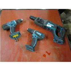 3 Drills- Makita No batteries 18v