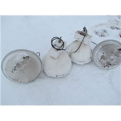 4 Hanging Light Fixtures 110V Commercial