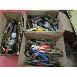3 boxes Assorted Tools,Pliers,etc