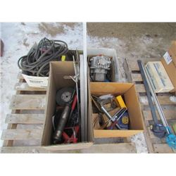Pallet of Cable,Chain,Tools Etc