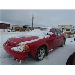 1999 Red Grand Am SALVAGE