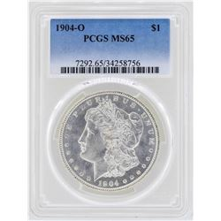 1904-O $1 Morgan Silver Dollar Coin PCGS MS65