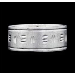 14KT White Gold Men's Band