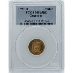1899-H Double Guernsey Coin PCGS MS65RD