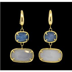 14KT Yellow Gold Ladies Gemstone Dangle Earrings