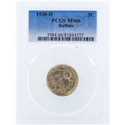 1938-D Buffalo Nickel Coin PCGS MS66
