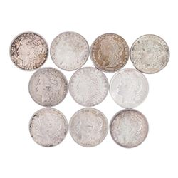 Lot of (10) 1921 $1 Morgan Silver Dollar Coins