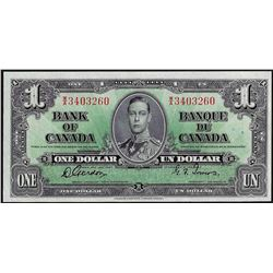 1937 $1 Bank of Canada Note
