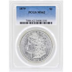 1879 $1 Morgan Silver Dollar Coin PCGS MS62