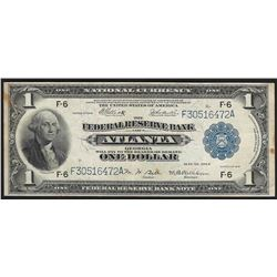 1918 $1 Federal Reserve Bank Note Atlanta