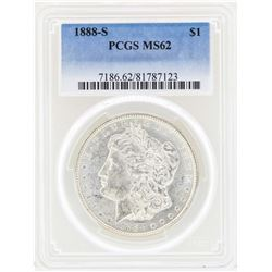 1888-S $1 Morgan Silver Dollar Coin PCGS MS62