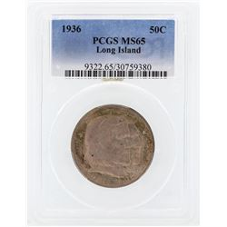 1936 Long Island Tercentenary Commemorative Half Dollar Coin PCGS MS65