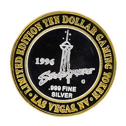 .999 Silver Boomtown Hotel & Casino Las Vegas $10 Limited Edition Gaming Token