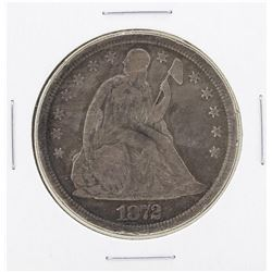 1872 $1 Seated Silver Dollar Coin